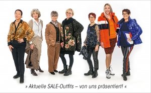 Foto-Shooting in Sale-Outfits